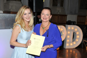 Presenting the certificate & cheque to Sophie Hughes, Leeds Dental Institute