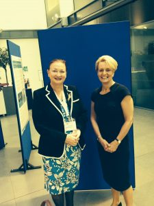 Janet Pickles with Sarah Hurley, CDO England at the BSPD 2016 Conference, Rose Bowl Centre, Leeds.